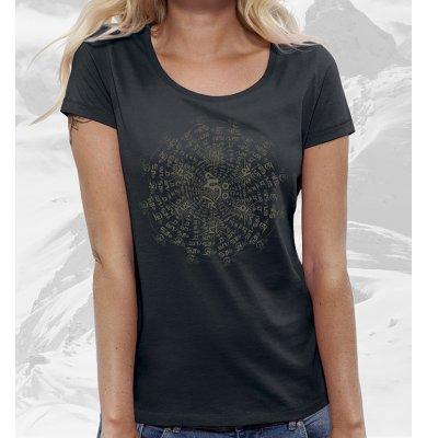 OM MANI PADME HUM футболка женская